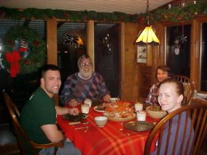 Elias, Rogier, Sara and Ellen Donker, Christmas 2004